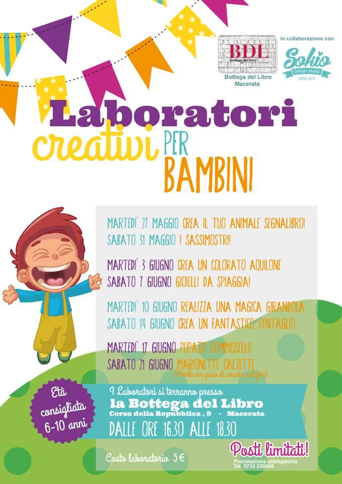 Nuovi Laboratori Per Bambini Alla Bottega Del Libro Di Macerata