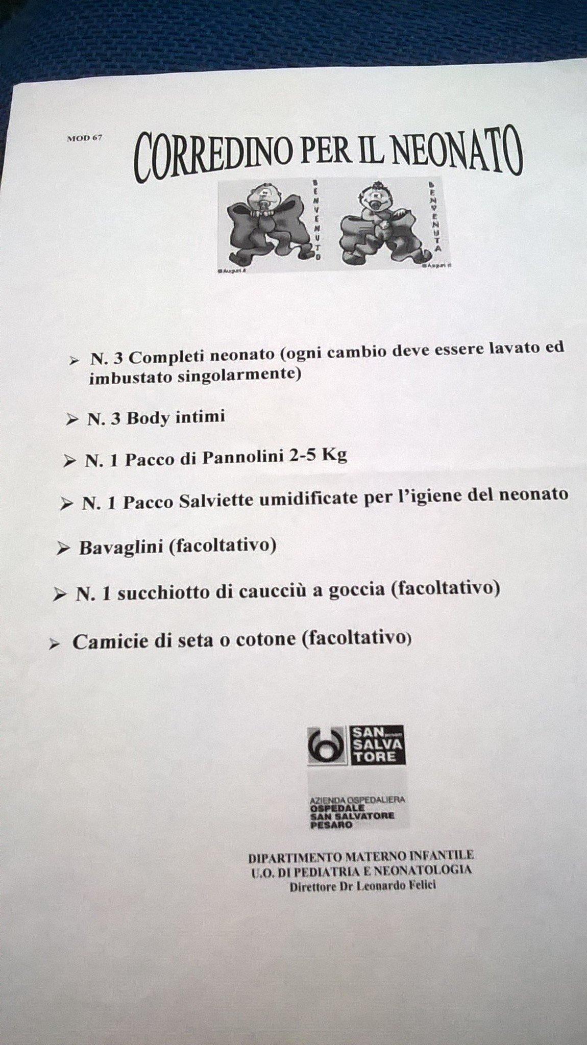La valigia per il parto all Ospedale di Pesaro  ee36d0b28cc6