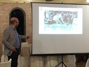 Serata Rotary Club Macerata, intervento odt. fabio fantozzi su la protezione dai traumi sportivi