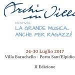 locandina festival musicale archi in villa porto sant'elpidio 2017