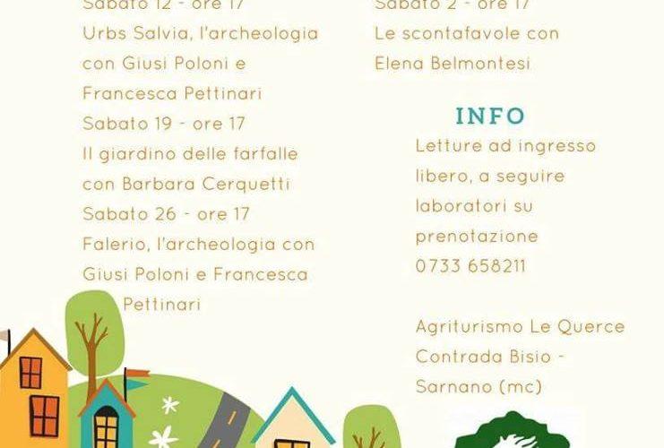 Laboratori e letture per bambini a Sarnano