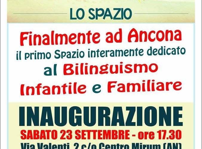 Spazio diventare e crescere bilingui ad Ancona locandina