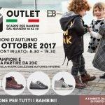 outlet di calzature per bambini SHO.E.B.76 evento ottobre