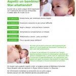 locandina incontri macerata allattamento al seno