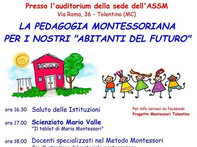 pedagogia montessoriana locandina incontro tolentino