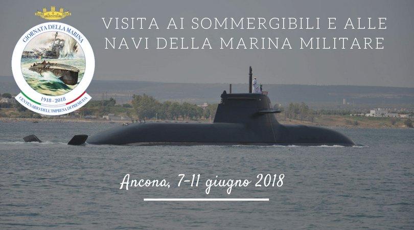 Visita ai sommergibili e alle navi della Marina Militare Ancona