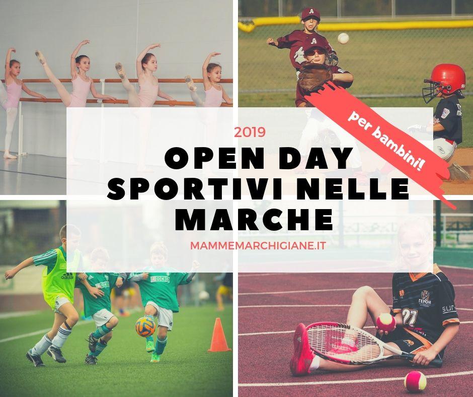 open day sportivi nelle marche