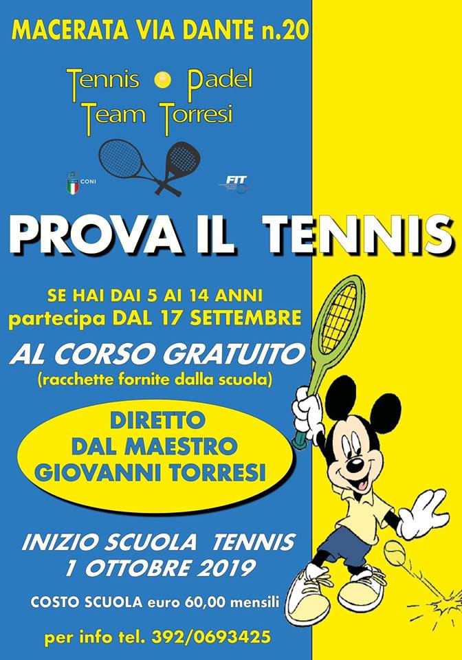 tennis macerata
