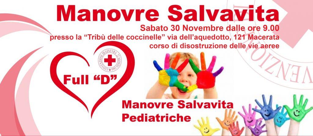 manovre salvavita pediatriche locandina incontro 30 novembre macerata