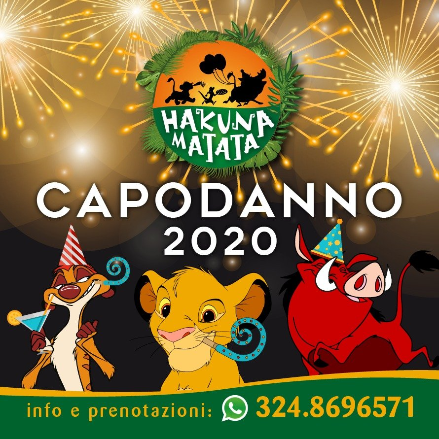 hakuna matata capodanno 2020