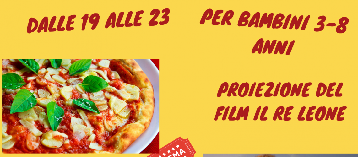 pizza e cinema per bambini