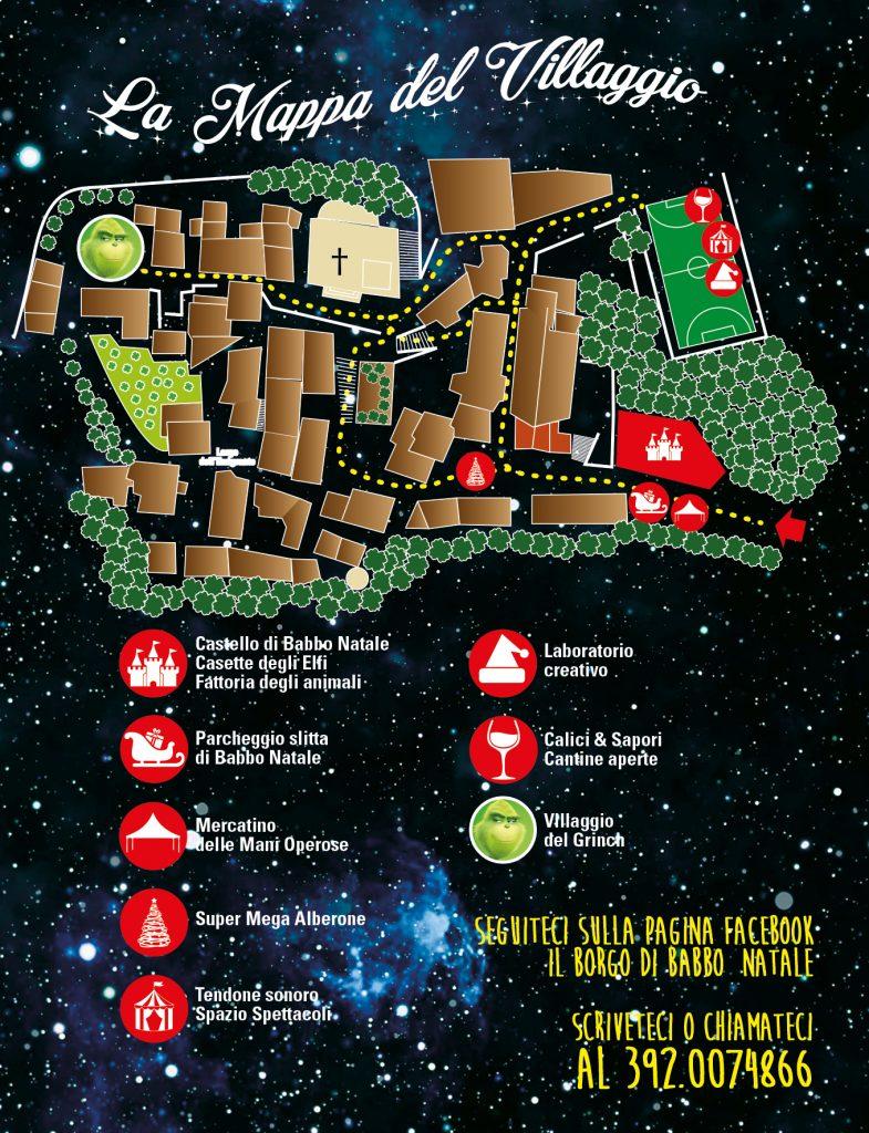 Il Borgo di babbo Natale di Ripattoni, Abruzzo, mappa