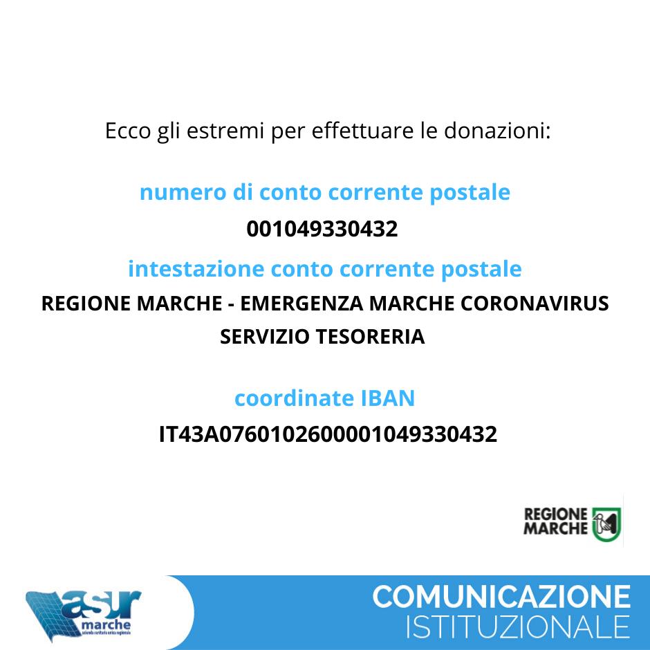 donazioni coronavirus asur marche