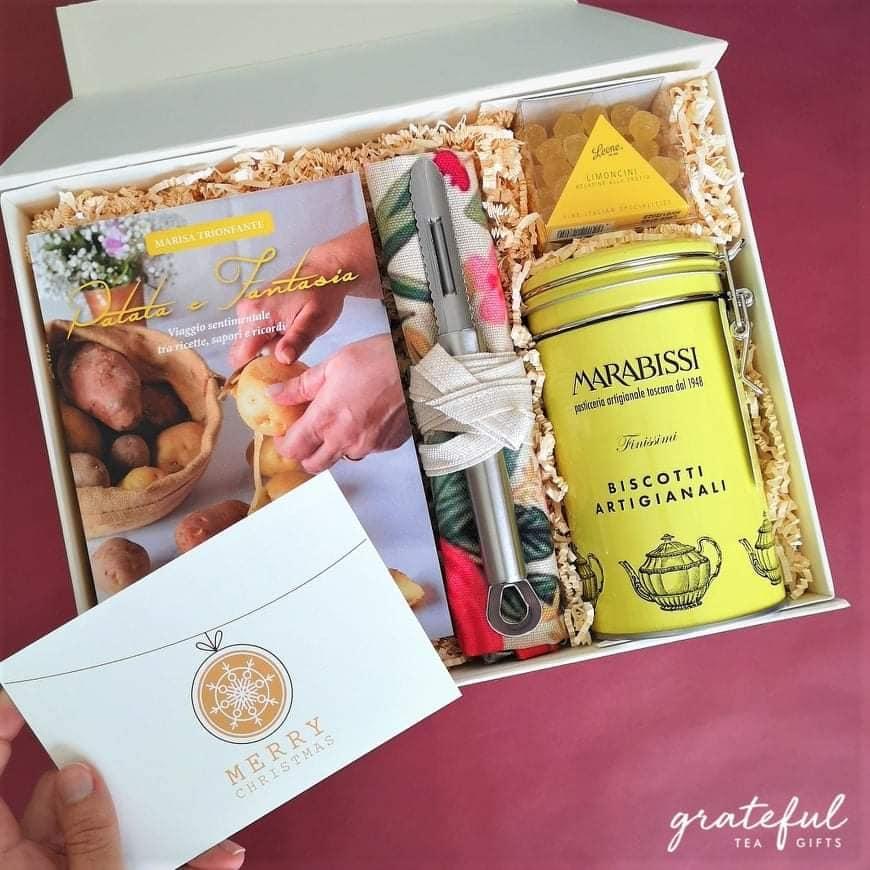 grateful tea gift, patata e fantasia